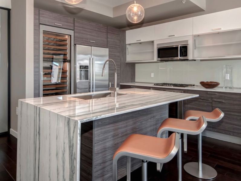 The great idea of installing kitchen cabinets for convenience for Are kitchen cabinets installed on top of flooring